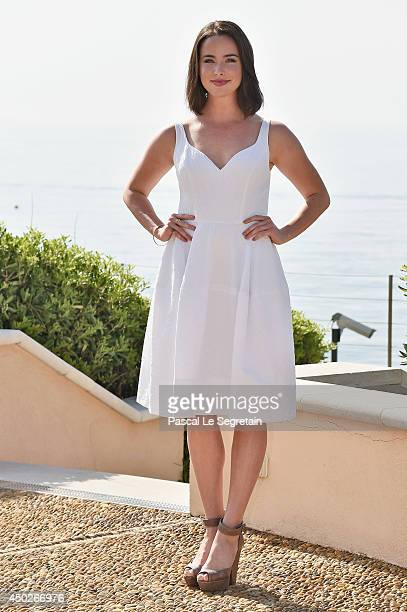Ashleigh Brewer pose during a photocall for the TV Show ' The Bold and the Beautiful' as part of the 54th Monte-Carlo Television Festival on June 8,...