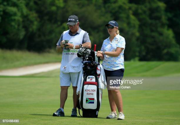 Ashleigh Buhai of South Africa waits to play during the second round of the ShopRite LPGA Classic Presented by Acer on the Bay Course at Stockton...