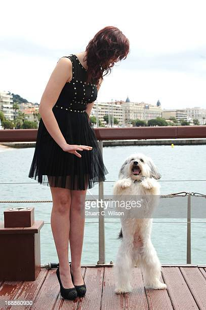 Ashleigh Butler and Pudsey attend Pudsey The Movie Photocall during the 66th Annual Cannes Film Festival at the Palais des Festivals on May 16 2013...