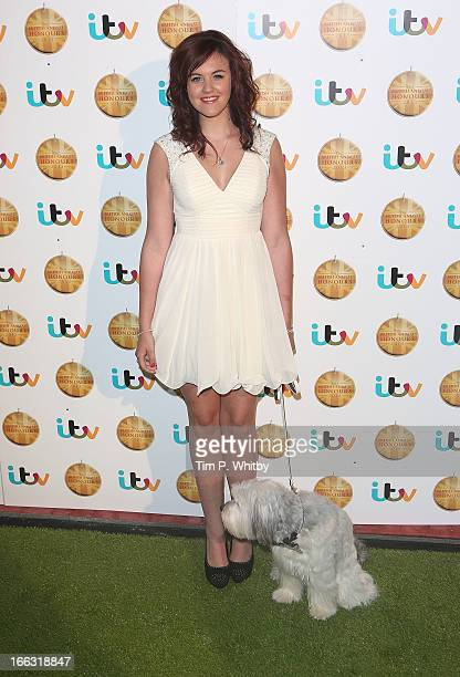 Ashleigh Butler and Pudsey attend The British Animal Honours 2013 at Elstree Studios on April 11 2013 in Borehamwood England