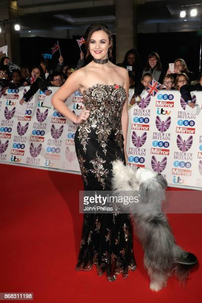 Ashleigh Butler and Pudsey attend the Pride Of Britain Awards at Grosvenor House on October 30 2017 in London England