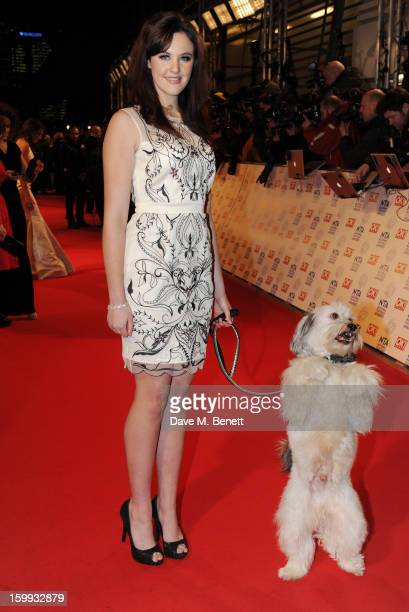 Ashleigh Butler and Pudsey attend the the National Television Awards at 02 Arena on January 23 2013 in London England