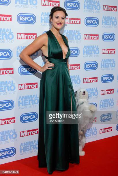 Ashleigh Butler and Sully attend the Animal Hero Awards 2017 at The Grosvenor House Hotel on September 7 2017 in London England