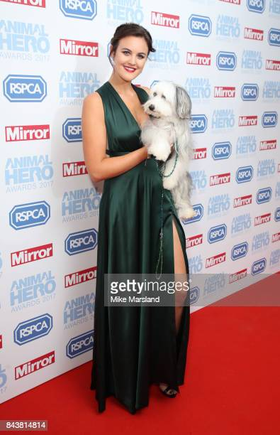 Ashleigh Butler and Sully the dog attends the Animal Hero Awards 2017 at The Grosvenor House Hotel on September 7 2017 in London England