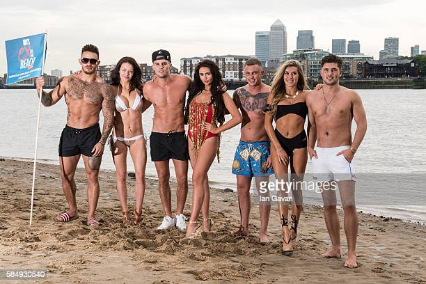 Ashleigh Cain Jess Impiazzi Gary Beadle Charlotte Dawson David Hawley Lillie Lexi Gregg and Jordan Davies of 'Ex on The Beach' promote the series...