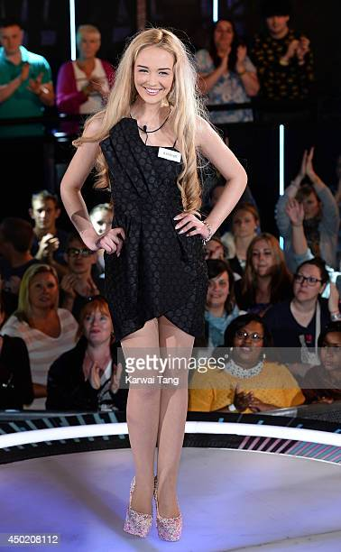 Ashleigh Coyle enters the Big Brother house during the Live Launch Night 2 at Elstree Studios on June 6 2014 in Borehamwood England
