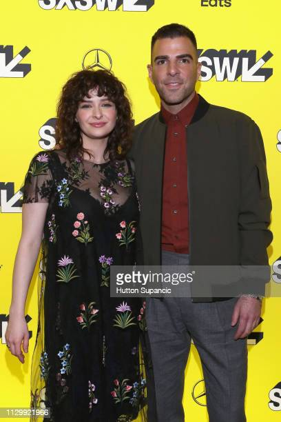 """Ashleigh Cummings and Zachary Quinto attend """"NOS4A2"""" Premiere during the 2019 SXSW Conference and Festivals at Alamo Lamar D on March 11, 2019 in..."""