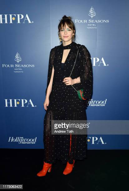 Ashleigh Cummings attends The Hollywood Foreign Press Association and The Hollywood Reporter party at the 2019 Toronto International Film Festival at...