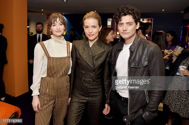 Ashleigh Cummings Willa Fitzgerald and Aneurin Barnard stop by ATT ON LOCATION during Toronto International Film Festival 2019 at Hotel Le Germain on...