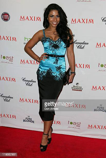 Ashleigh Francis Arrives At The Maxim Australia Magazine Launch At The Museum Of Sydney On July