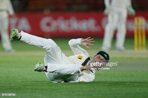 Ashleigh Gardner of Australia fields during day four of the Women's Test match between Australia and England at North Sydney Oval on November 12 2017...