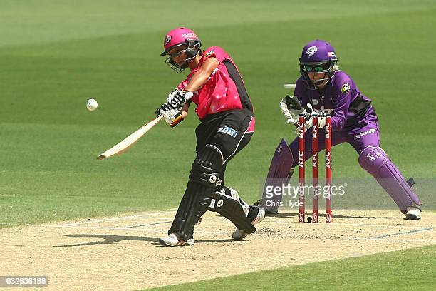 Ashleigh Gardner of the Sixers bats during the Women's Big Bash League semi final match between the Sydney Sixers and the Hobart Hurricanes at The...