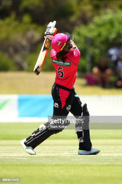 Ashleigh Gardner of the Sixers bats during the Women's Big Bash League match between the Perth Scorchers and the Sydney Sixers at North Dalton Park...