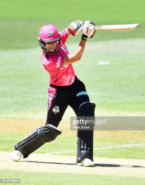 Ashleigh Gardner of the Sydney Sixers bats during the Women's Big Bash League match between the Adelaide Strikers and the Sydney Sixers at Adelaide...