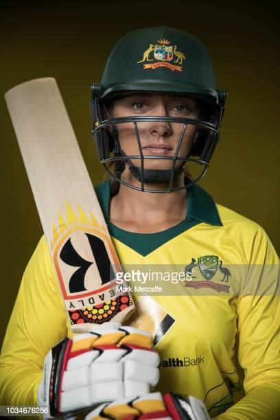 Ashleigh Gardner poses during the Cricket Australia Women's National Squad Player Camp on September 13 2018 in Sydney Australia