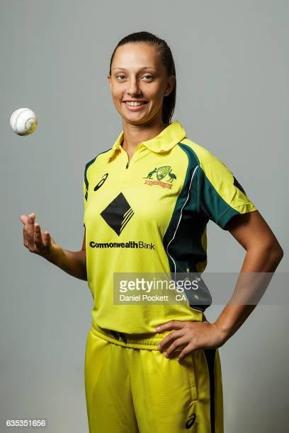 Ashleigh Gardner poses during the Southern Stars Twenty20 Headshots Session on February 14 2017 in Melbourne Australia