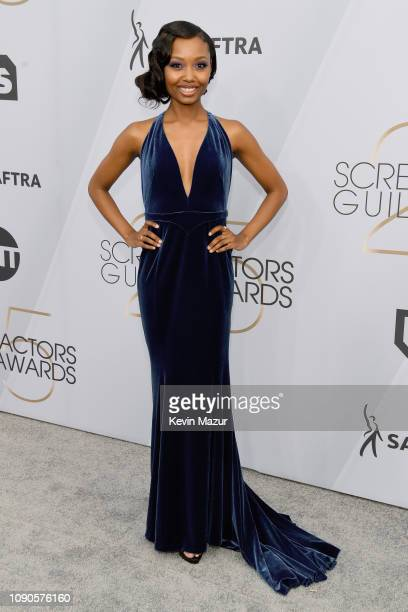 Ashleigh LaThrop attends the 25th Annual Screen ActorsGuild Awards at The Shrine Auditorium on January 27 2019 in Los Angeles California 480568