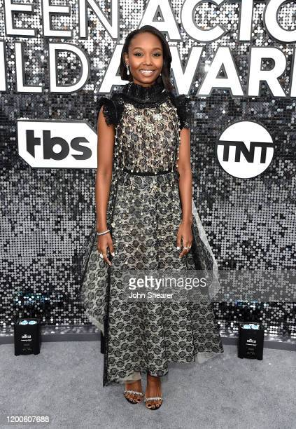 Ashleigh LaThrop attends the 26th Annual Screen Actors Guild Awards at The Shrine Auditorium on January 19 2020 in Los Angeles California