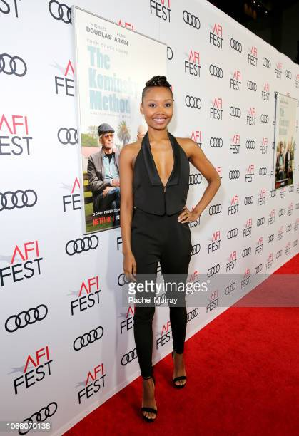 Ashleigh LaThrop attends the Los Angeles Premiere of 'The Kominsky Method ' at AFI Fest at TCL Chinese Theatre on November 10 2018 in Hollywood...