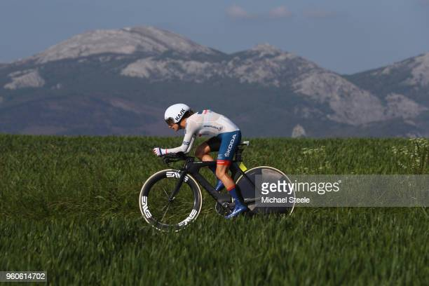 Ashleigh Moolman Pasio of South Africa and CerveloBigla Pro Cycling Team during the 31st Women WT EmakumeenBira Stage 2 266km Individual Time Trial...