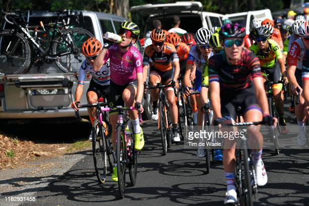 Ashleigh Moolman Pasio of South Africa and Team CCC-Liv / Annemiek van Vleuten of The Netherlands and Team Mitchelton-Scott UCI Leader Jersey...
