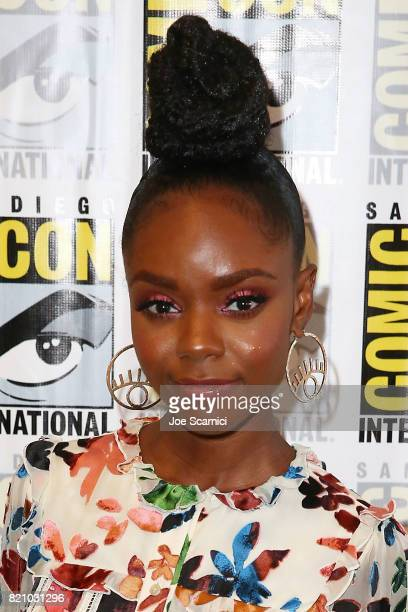 Ashleigh Murray arrives at the Riverdale press line at ComicCon International 2017 on July 22 2017 in San Diego California