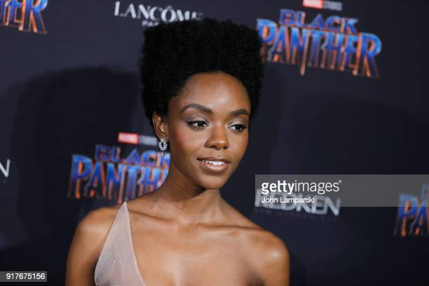 Ashleigh Murray attends Marvel Studios Presents Black Panther Welcome To Wakanda during February 2018 New York Fashion Week The Shows at Industria...