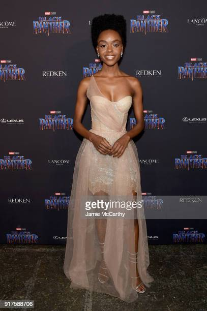 Ashleigh Murray attends the Marvel Studios Black Panther Welcome to Wakanda New York Fashion Week Showcase at Industria Studios on February 12 2018...