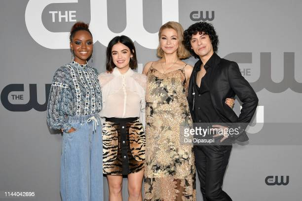 Ashleigh Murray Lucy Hale Julia Chan and Jonny Beauchamp attend the 2019 CW Network Upfront at New York City Center on May 16 2019 in New York City