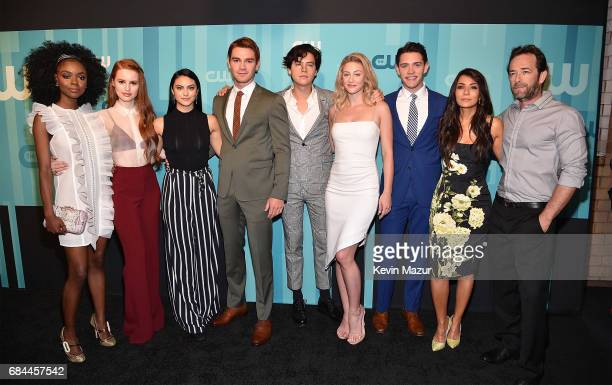 Ashleigh Murray Madelaine Petsch Camila Mendes KJ Apa Cole Sprouse Lili Reinhart Casey Cott Marisol Nichols and Luke Perry attend The CW Network's...