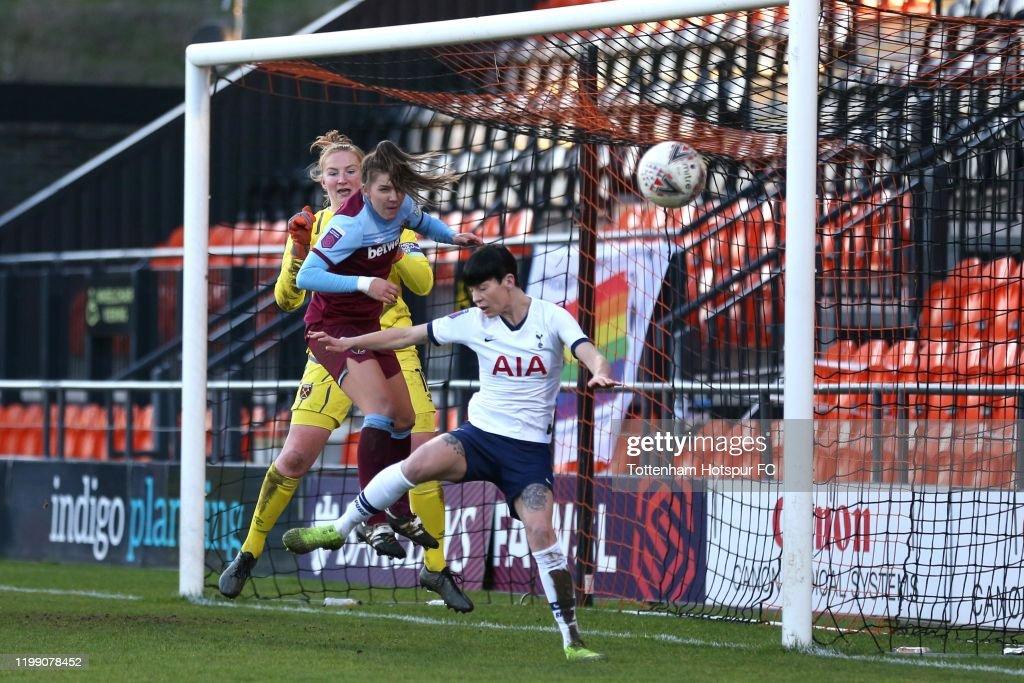 Tottenham Hotspur v West Ham United - Barclays FA Women's Super League : Nieuwsfoto's