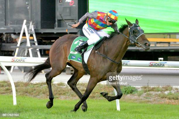 Ashleigh Rae ridden by Chris Symons wins the Victorian Statewide Conveyancing Maiden Plate at Cranbourne Racecourse on March 31 2017 in Cranbourne...