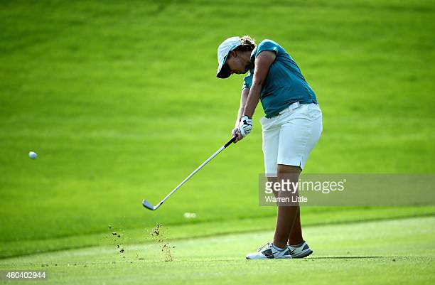 Ashleigh Simon of South Africa in action during the final round of the Omega Dubai Ladies Masters on the Majlis Course at Emirates Golf Club on...