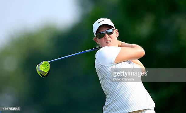 Ashleigh Simon of South Africa plays her tee shot on the par 4 11th hole during the first round of the 2015 KPMG Women's PGA Championship on the West...