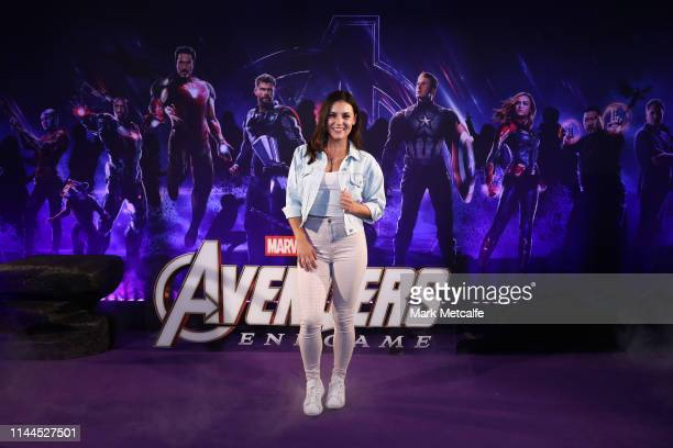 Ashleigh Wells attends the Sydney screening of Avengers End Game at Hoyts Entertainment Quarter on April 23 2019 in Sydney Australia