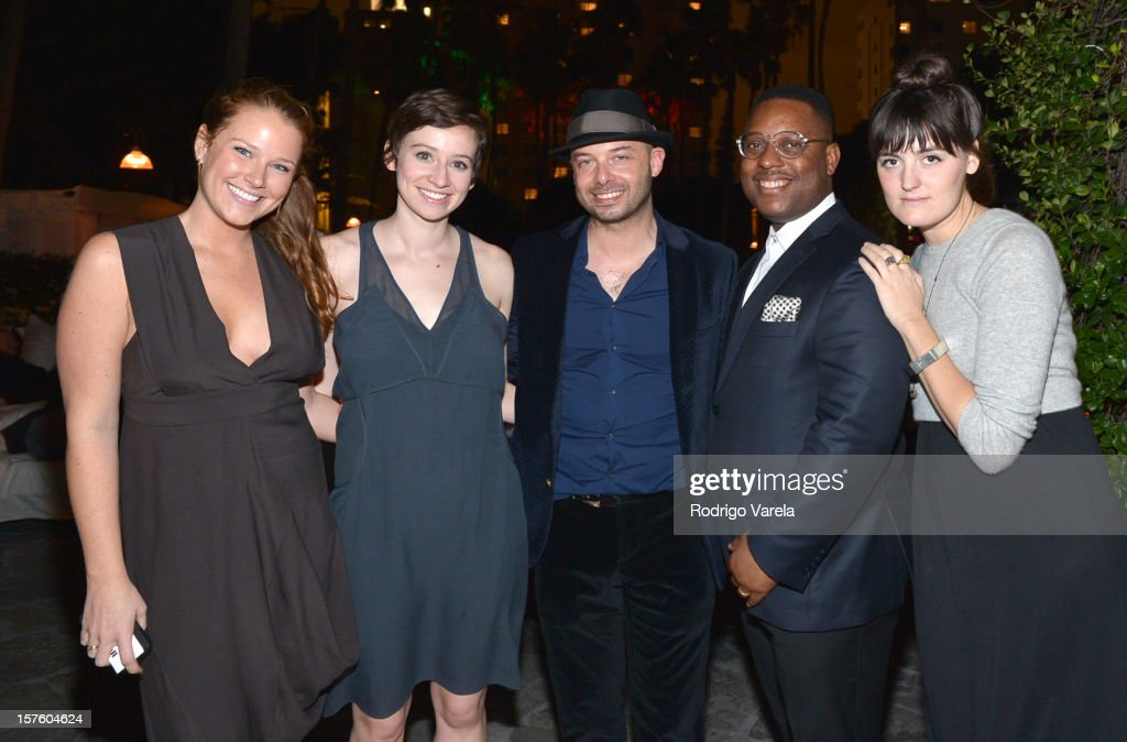 Ashley Abbott Clairmont, Katy Donoghue, Michael Klug, Amani Olu and Tory Noll attend the Whitewall Magazine Party At Delano Beach Club at Delano Beach Club on December 4, 2012 in Miami Beach, Florida.
