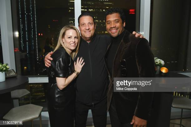 Ashley Acevedo Kenny Dichter and Russell Wilson attend the InStyle Dinner to Celebrate the April Issue Hosted By Cover Star Ciara and Laura Brown on...
