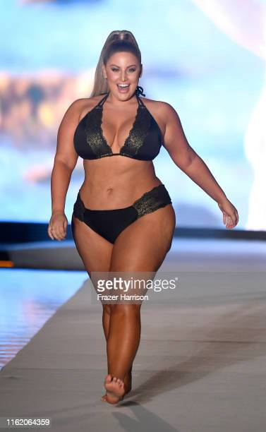 Ashley Alexiss walks the runway during the 2019 Sports Illustrated Swimsuit Runway Show During Miami Swim Week At W South Beach Runway at WET...
