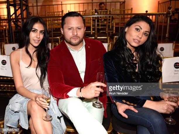 Ashley Amarillas Oskar Rivera and Lidia Silva at Los Angeles Fashion Week Powered by Art Hearts Fashion LAFW FW/18 10th Season Anniversary Backstage...