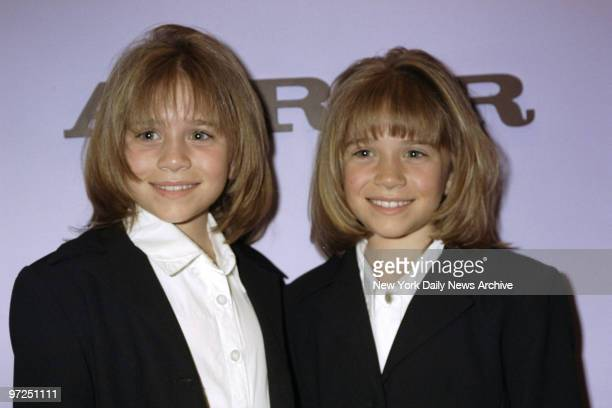 Ashley and Mary Kate Olsen after getting hair styled at the John Barrett Salon at Bergdorf Goodman The Olsen twins are in town for the Audrey Hepburn...
