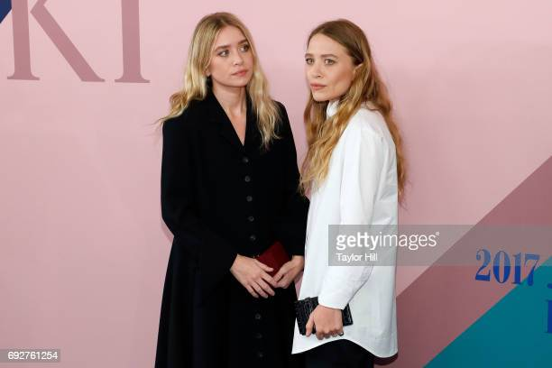 Ashley and MaryKate Olsen attend the 2017 CFDA Fashion Awards at Hammerstein Ballroom on June 5 2017 in New York City