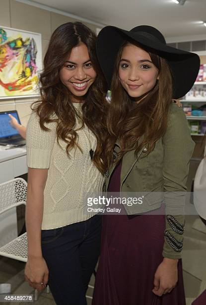 Ashley Argota and Rowan Blanchard attends the Murad LA Flagship Store Grand Opening on November 5 2014 in Los Angeles California