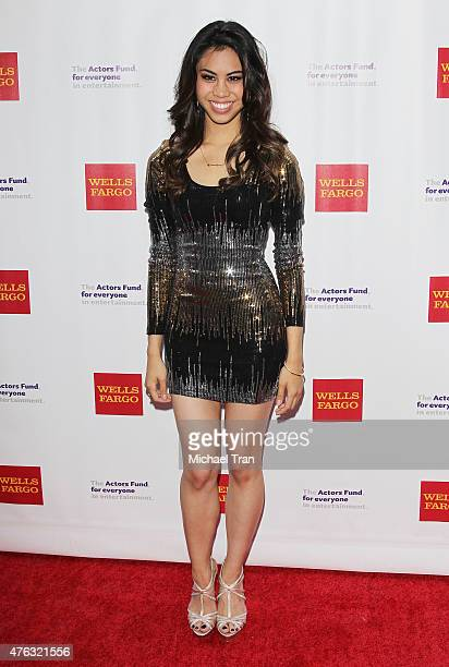 Ashley Argota arrives at The Actors Fund's 19th Annual Tony Awards viewing party held at Skirball Cultural Center on June 7 2015 in Los Angeles...