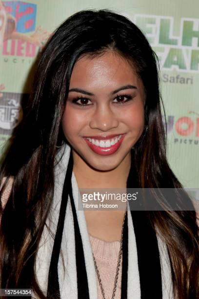 Ashley Argota attends the Delhi Safari Los Angeles premiere at Pacific Theatre at The Grove on December 3 2012 in Los Angeles California