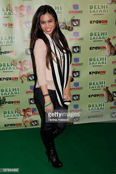 Ashley Argota attends the Delhi Safari Los Angeles premiere at Pacific Theatre at The Grove on December 3 2012 in Los Angeles California