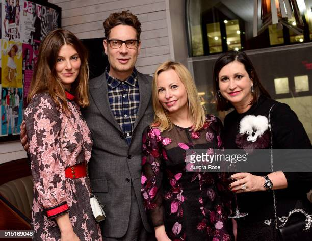 Ashley Baker Cameron Silver Gillian Miniter and Elyse Newhouse attend Daily Front Row Celebrates 15 Years of Chic on February 6 2018 in New York City