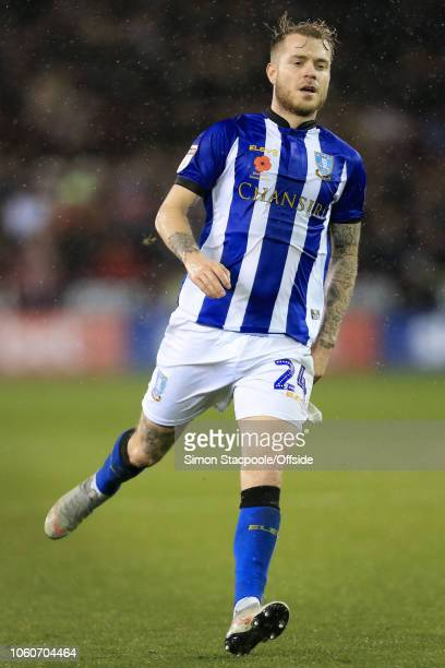 Ashley Baker of Sheff Weds in action during the Sky Bet Championship match between Sheffield United and Sheffield Wednesday at Bramall Lane on...