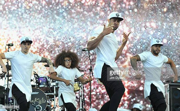 Ashley Banjo and Diversity perform onstage during the Invictus Games Closing Concert at the Queen Elizabeth Olympic Park on September 14 2014 in...