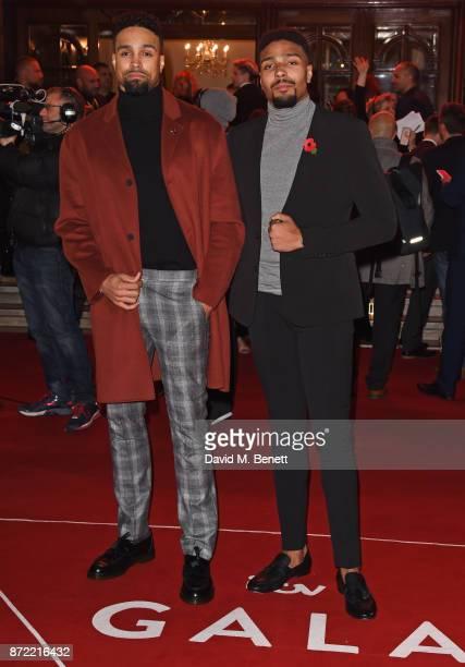 Ashley Banjo and Jordan Banjo attend the ITV Gala held at the London Palladium on November 9 2017 in London England