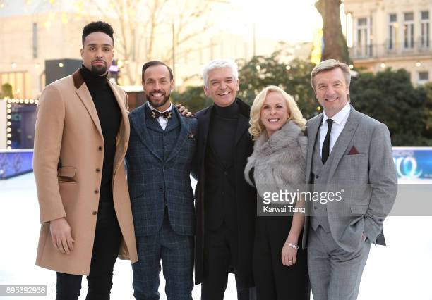 Ashley Banjo Jason Gardiner Phillip Schofield Jayne Torvill and Christopher Dean attend the Dancing On Ice 2018 photocall held at Natural History...